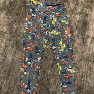 LULAROE Vintage Car Printed Leggings